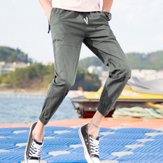 Buy Sports Casual New Style Ankle Length Pants Gray Other Online