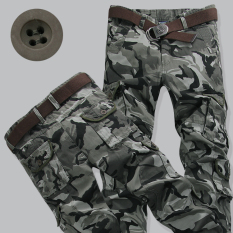 Latest Sports And Leisure Teenagers L Loose Fit Cargo Pants Camo Pants Light Green Gray Camouflage Light Green Gray Camouflage