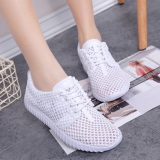 Buy Sports Comfortable Breathable Porous White Shoes Elevator Women S Shoes 1611 White Cheap China