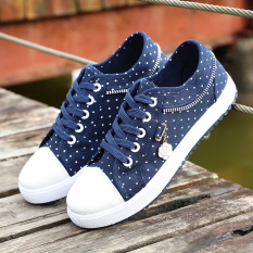 Wholesale Sports Fresh High Sch**L Students Women S Shoes Flat Women S Shoes Dark Blue Color