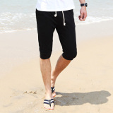 Sports Korean Style Men Casual Slim Fit Thin Shorts Capri Pants Cs Black Lower Price