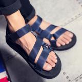 Discount Couple Men And Women Korean Sports New Style Flat Tide Beach Shoes F12 Dark Blue Oem