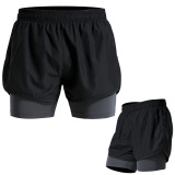 Store Sports Men Summer Quick Drying Fitness Shorts Running Shorts Shorts P17119 Black Iron Gray Oem On China