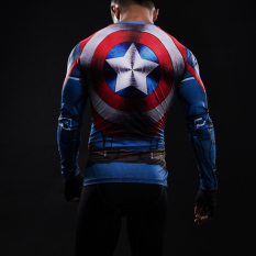 Buy Black Panther Male Fitness Training Quick Drying Long Sleeve Bodysuit Top Tights American Captain Jsyc005 On China
