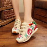 Sale Sports Old Beijing Elevator Embroidered Cloth Shoes Women S Shoes Off White Color Other Cheap