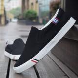 Recent Sports Spring And Autumn Men S Canvas Shoes Canvas Black