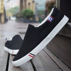 Buy Sports Spring And Autumn Men S Canvas Shoes Canvas Black Cheap China