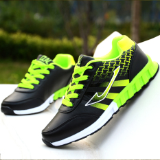 How Do I Get 11 Years Old 12 Spring And Autumn Days Teenager Big Boy Casual Shoes Black And Green 686 Leather
