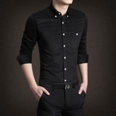 Discount Jh Mb Men S Corduroy Long Sleeve Shirt Black Black Oem
