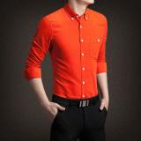 Store Jh Mb Men S Corduroy Long Sleeve Shirt Orange Orange Oem On China