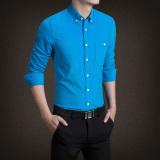 Low Cost Jh Mb Men S Corduroy Long Sleeve Shirt Sky Blue Sky Blue
