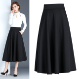 Spring And Autumn Period New Style Korean Style Skirt Black Have With Pockets For Sale