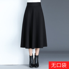 Spring And Autumn Period New Style Korean Style Skirt Black No With Pockets In Stock