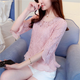 Retail Spring And Autumn New Style Slim Fit Slimming Top Pink