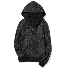 The Cheapest Spring And Autumn Plus Sized Student Teenager Hooded Zip Hoodie Black Online