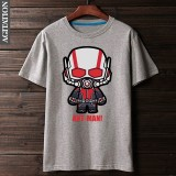 Low Price Marvel Cotton Spring Summer Crew Neck Short Sleeve Men T Shirt Gray Gray