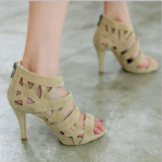 Roman Black Thin Heeled Porous Dancing Shoes High Heeled Women S Sandals N*d* Color Lowest Price