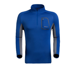 Best Buy Probe Extension Outdoor Stand Up Collar Long Sleeved Quick Drying Sun Protection Clothing Quick Drying Clothes Sapphire Blue Color Men