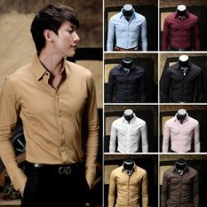 Get The Best Price For Men S Business Slim Fit Long Sleeve Shirt Light Blue Light Blue