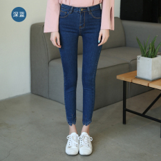 Spring And Summer New Style Ankle Length Unique Pants Blue Coupon