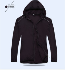 Couple S Outdoor Waterproof And Sun Protection Ultra Thin Breathable Long Sleeves Coat Deep Purple Deep Purple Price