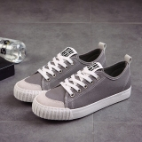 Korean Style Harajuku Canvas Sneakers White Gray Oem Discount
