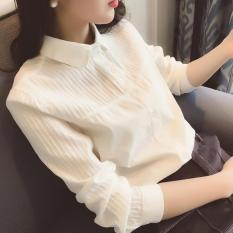 Price Comparison For Spring Autumn Elegant Cotton Women White Shirts Ladies Long Sleeve Top Casual Plain Shirt Intl