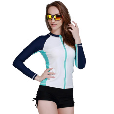 Sale Spring Autumn Women Rash Guard Top Shirts Swim Long Sleeve Snorkeling Diving Wetsuit Swimwear White Oem Original