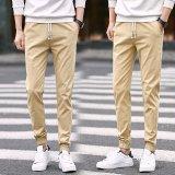 Best Deal Spring Boys Beam Leg Pants Casual Pants Summer Thin Section Slim Feet Close Male Territories 9 Sub Base Male Child Khaki