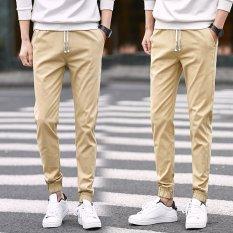 Spring Boys Beam Leg Pants Casual Pants Summer Thin Section Slim Feet Close Male Territories 9 Sub Base Male Child Khaki In Stock