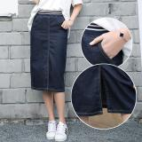 Price Spring Elastic Waist Jeans Skirt Long Big Yards In The Fat Mm Skirts Show Thin Skirt One Pace Intl Online China