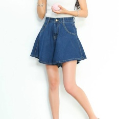 Who Sells Spring High Waist Shorts Skirts For Women Fashion Outfit Female Casual Wide Leg Denim Short Trousers Loose Pantalon Intl Cheap