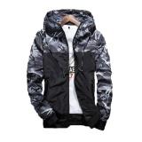 Best Deal Spring Men S Camouflage Coat Mens Hoodies Casual Jacket Brand Clothing Mens Windbreaker Coats Male Outerwear Autumn Outdoor Coats Grey Intl