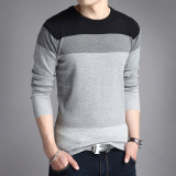Shop For Men S Slim Fit Striped V Neck Long Sleeve T Shirt 803 Gray 803 Gray