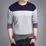Store Men S Slim Fit Striped V Neck Long Sleeve T Shirt 803 Navy Blue 803 Navy Blue Oem On China