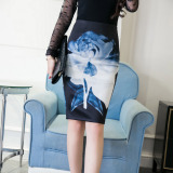 Deals For Korean Style Spring And Autumn New Style Printed One Step Skirt