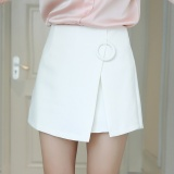 Spring Summer The New Women S Clothing Han Edition Shorts Irregular High Waist Shorts Skirts Short Skirts Pants White Intl Oem Discount