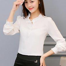 Price Spring Summer Women Ladies Chiffon Shirts Ol Casual Long Sleeve Tops Shirt Intl Online China