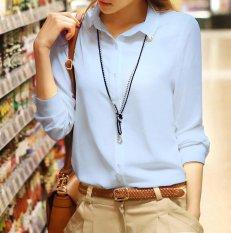 Sale Spring Summer Women Ladies Long Sleeve Button Shirts Female Chiffon Shrit Tops Intl China