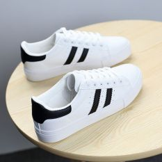 Buy Dd Oo Women S Korean Style White Flat Canvas Shoes White And Black White And Black Cheap On China