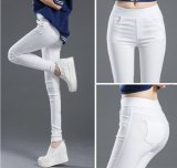 Compare Spring Women Thin Trousers Elastic White Feet Pant Pencil Pants Intl