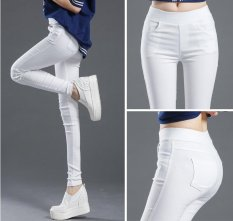 Price Spring Women Thin Trousers Elastic White Feet Pant Pencil Pants Intl Oem New