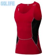 Wholesale Sqlife Men Movement Pro Training Tight Vest Fitness Running Quick Drying Vest Dress Red Intl