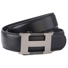 Sale Star Ever Fashionable Belt Men S Automatic Buckle Leather Belts Black Intl
