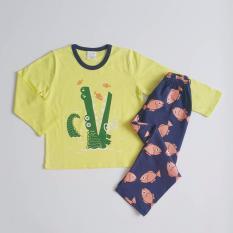 Best Price Children Boy G*rl Sleepwear Starboom Croc Fishes Pyjama Set