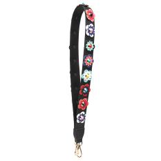 Price Strap You Summer New Style Shoulder Strap Handbag Wide Shoulder Strap Accessories Flowers Spell Color Shoulder Strap Color Long Bag T Black Color Flower 108 Cm Oem New