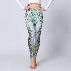 Stretchy Printed Yoga Pants Women High Waist Compression Tights Slim Fitness Leggings Quick Dry Athletic Sport Leggings Intl On China