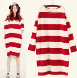Buy Striped Cotton Maternity Nursing Feeding Dress 109 Intl Cheap On China
