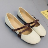 Sts Leather Shoes Whith Round Toe Off White Intl In Stock