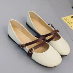 Best Price Sts Leather Shoes Whith Round Toe Off White Intl